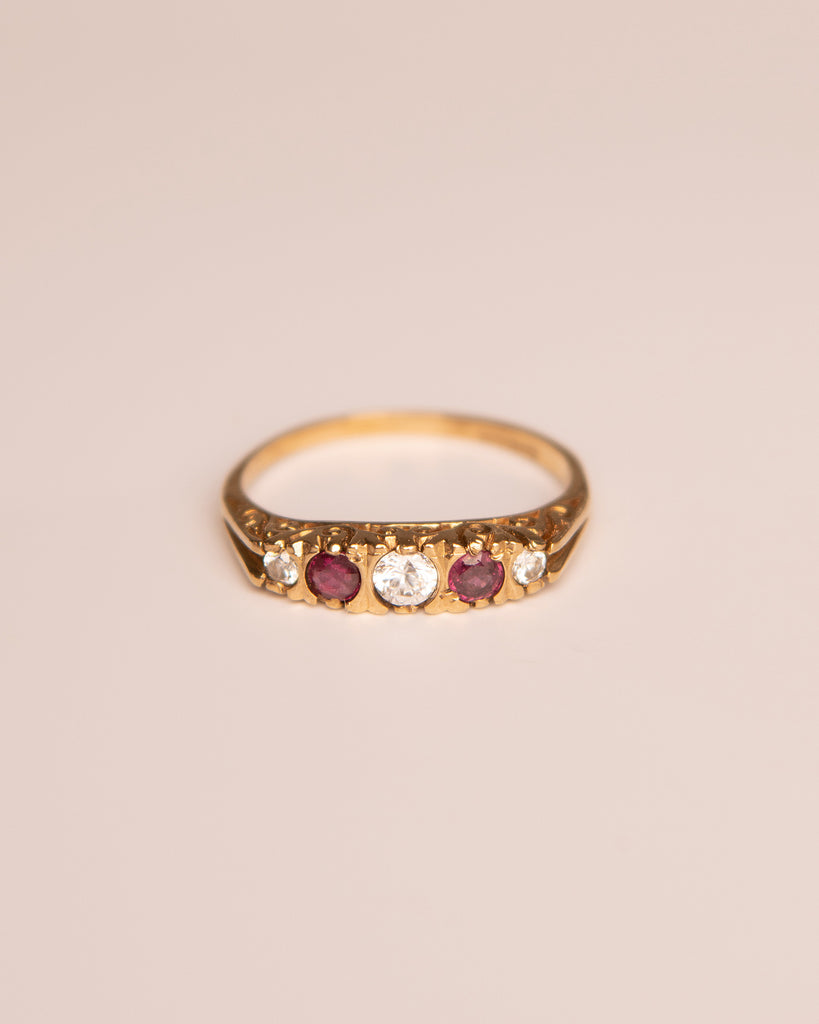 Elena 9ct Gold Ruby Ring