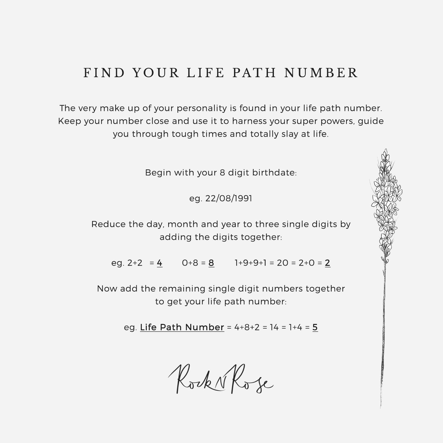 Life Path Number 8 Necklace