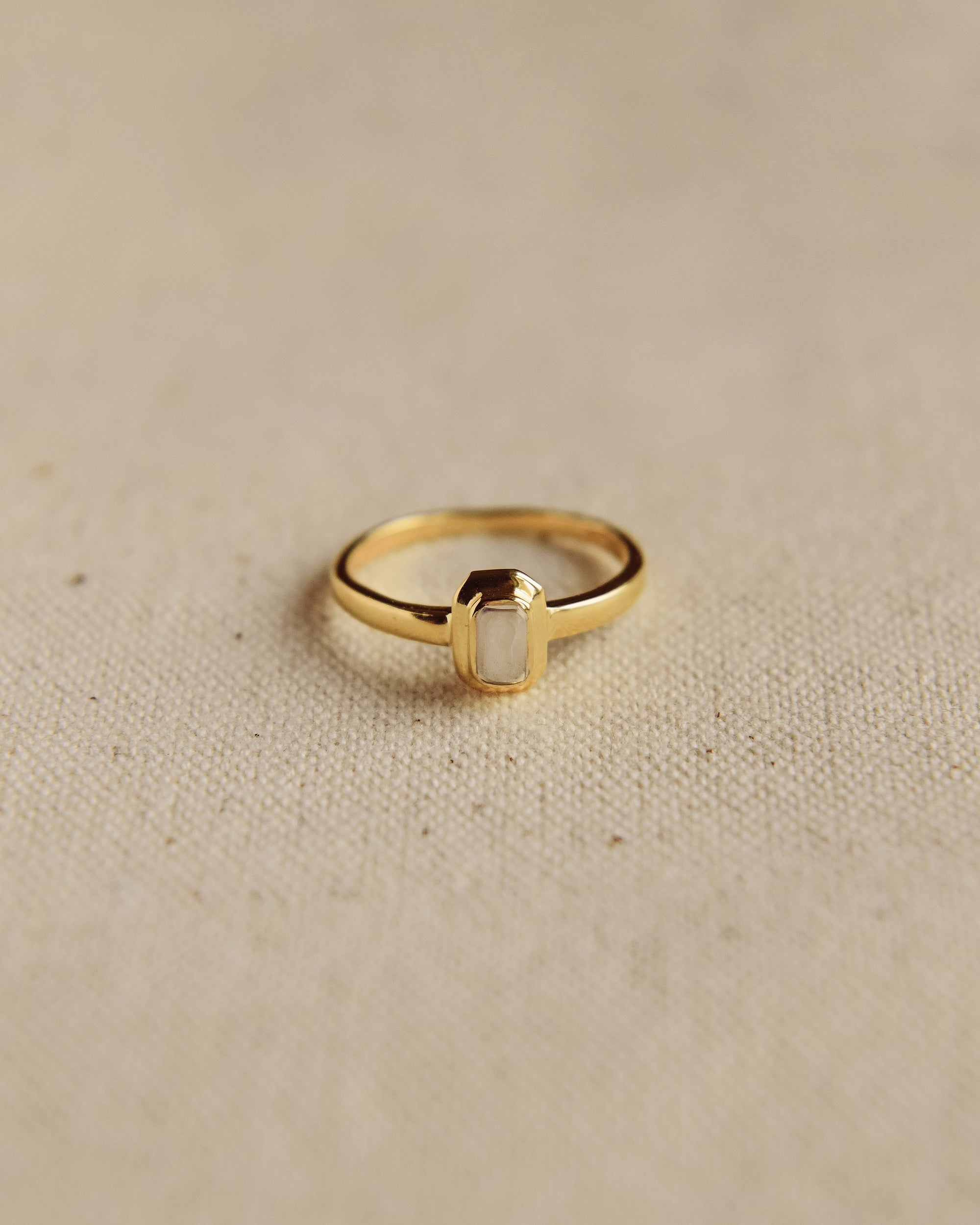 Image of Frances Gold Vermeil Birthstone Ring - April