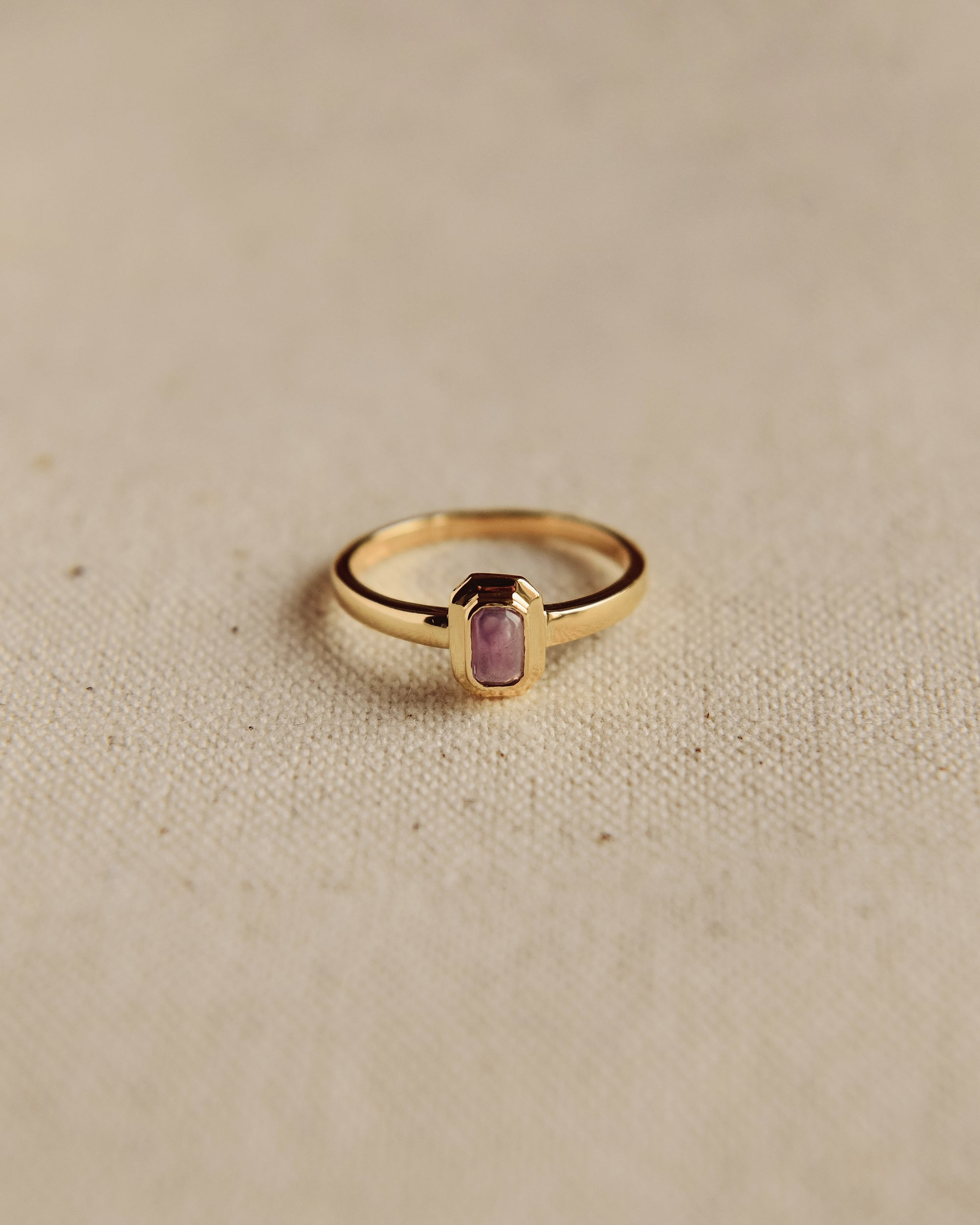 Image of Frances Gold Vermeil Birthstone Ring - February