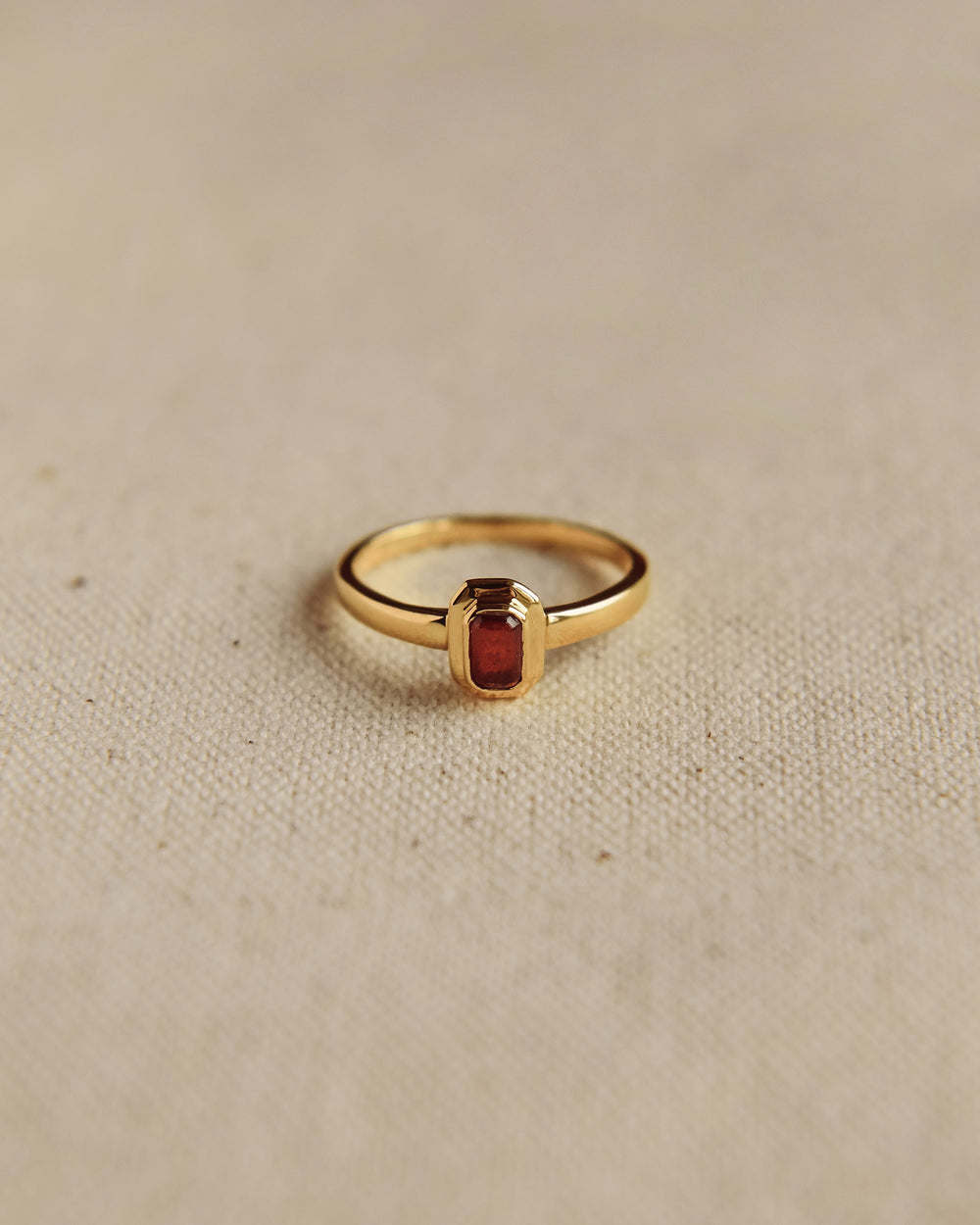 Frances Gold Vermeil Birthstone Ring - January