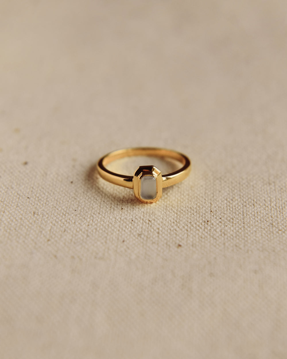Frances Gold Vermeil Birthstone Ring - March