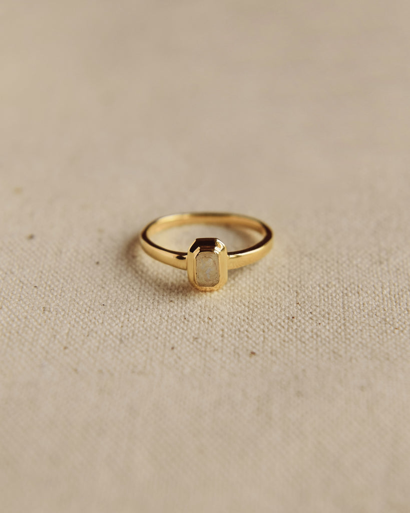 Frances Gold Vermeil Birthstone Ring - October
