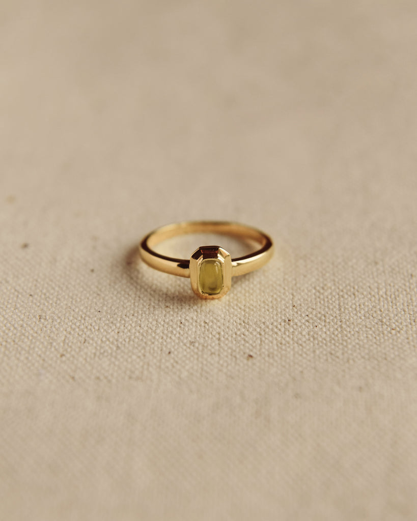 Frances Gold Vermeil Birthstone Ring - August