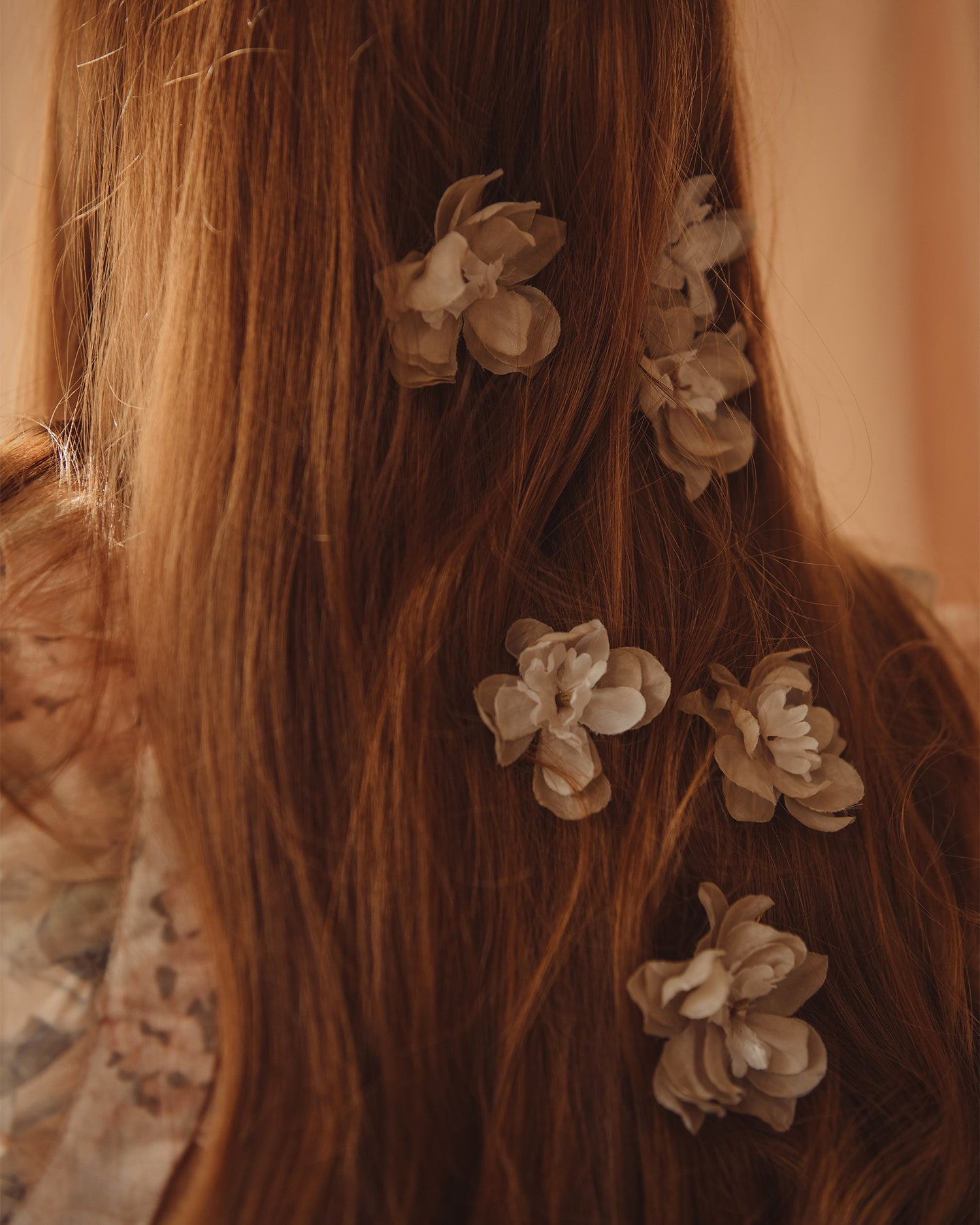 Image of Franny Flower Hair Pins - Nude