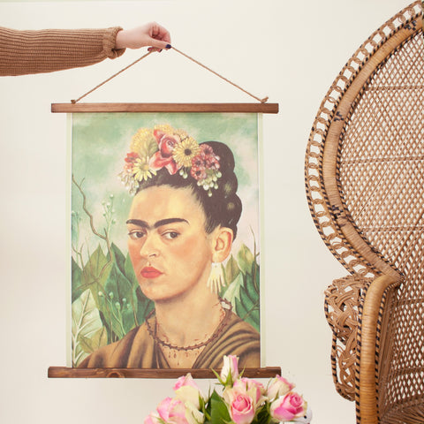 Frida Wooden Wall Hanging