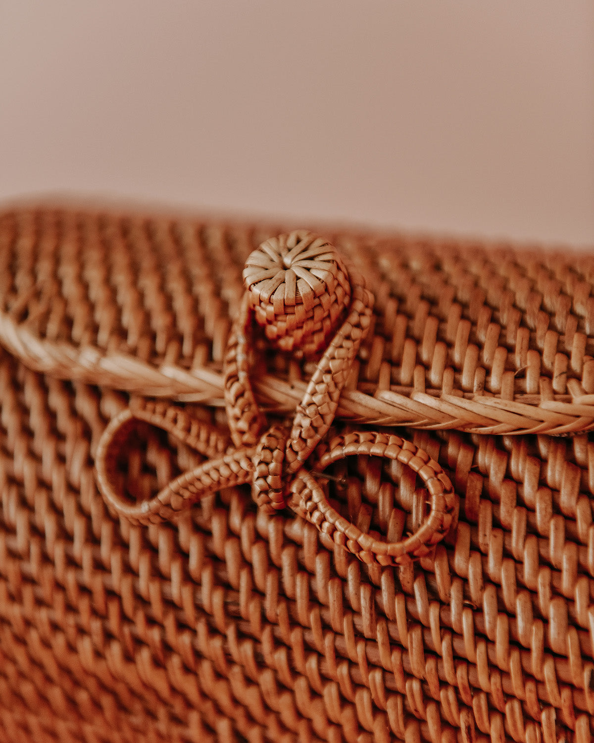 Ginger Woven Barrel Basket Bag