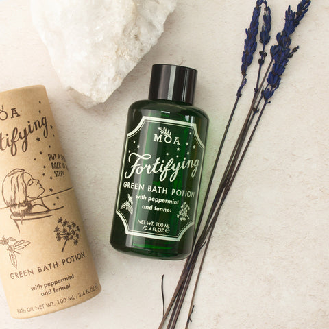 Magical Organic Apothecary Fortifying Green Bath Potion