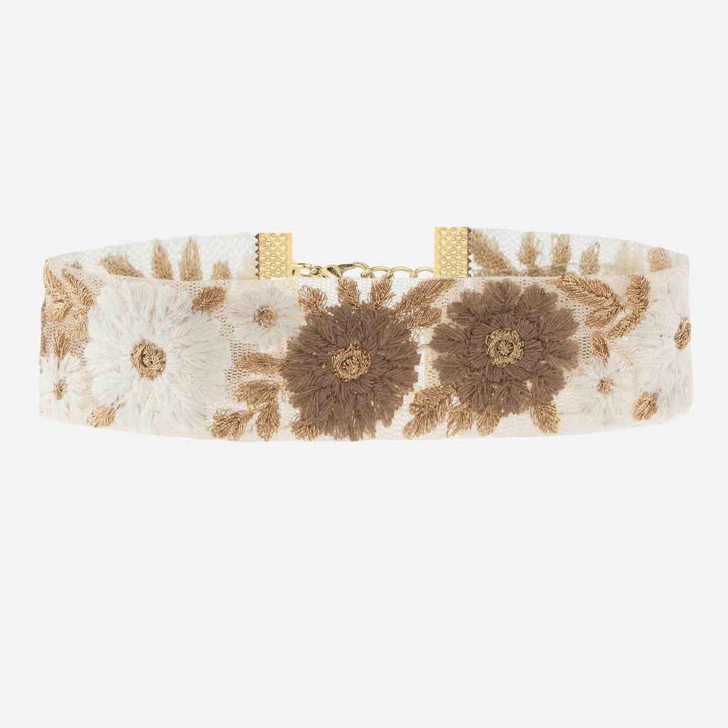 Image of JOSEPHINE Embroidered Floral Choker
