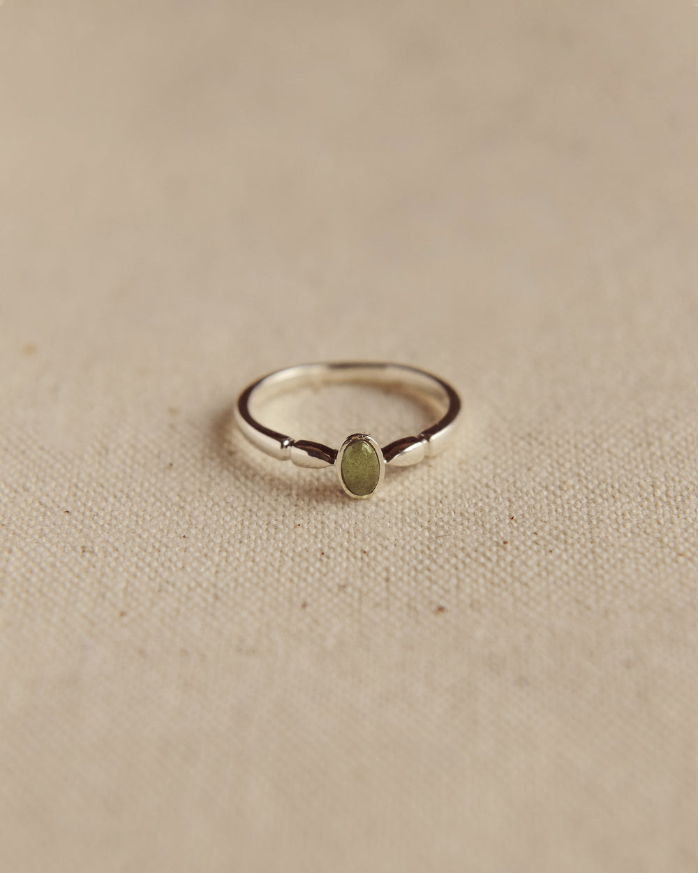 Joanie Sterling Silver Birthstone Ring - August