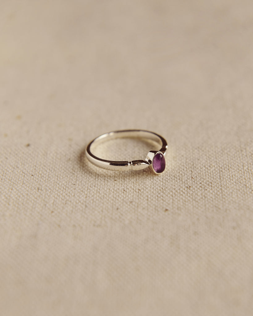 Joanie Sterling Silver Birthstone Ring - February