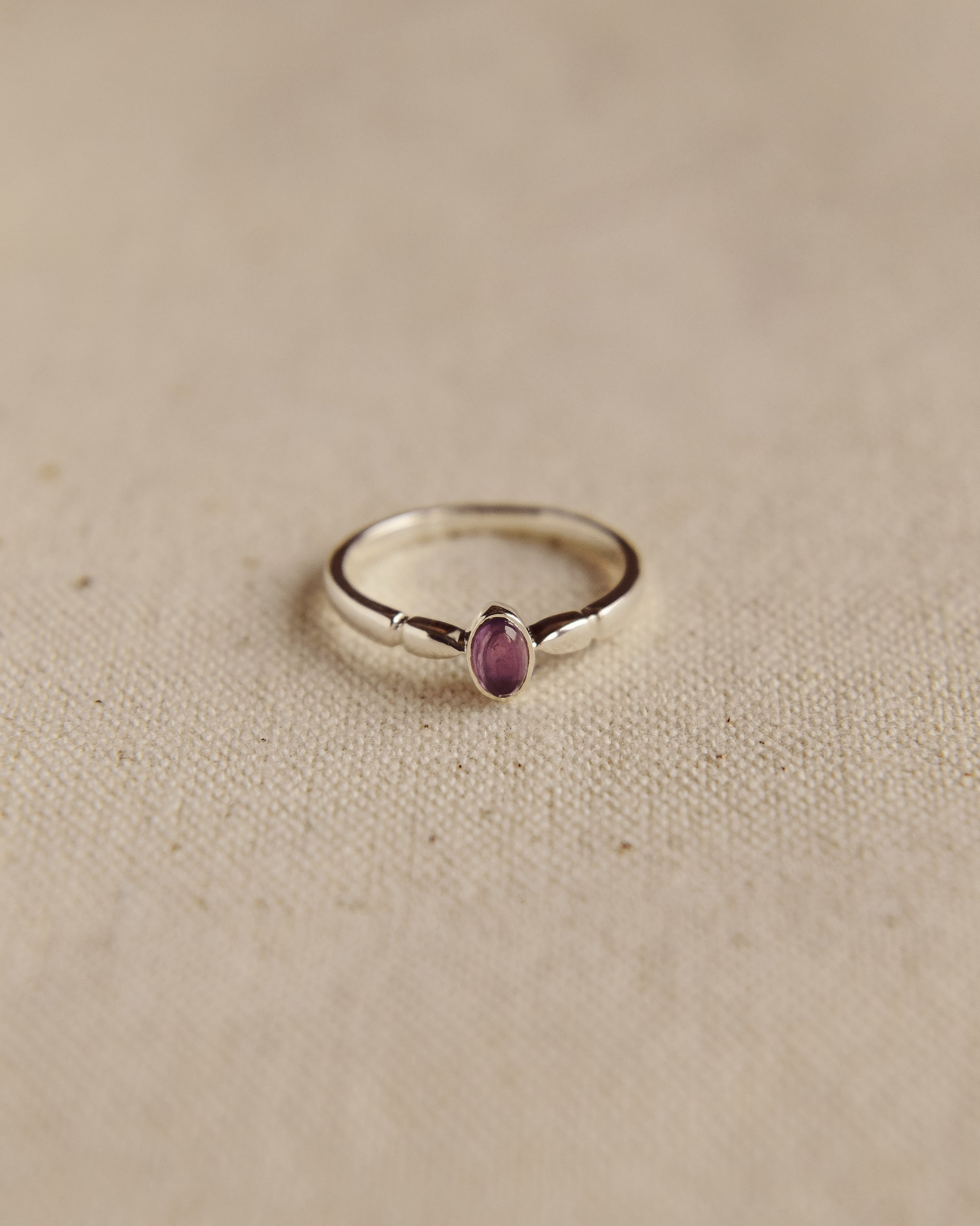 Image of Joanie Sterling Silver Birthstone Ring - February