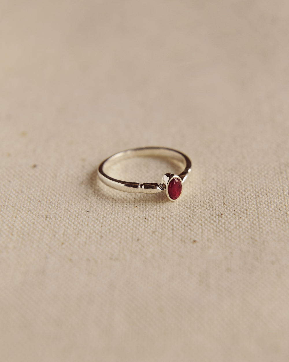 Joanie Sterling Silver Birthstone Ring - July
