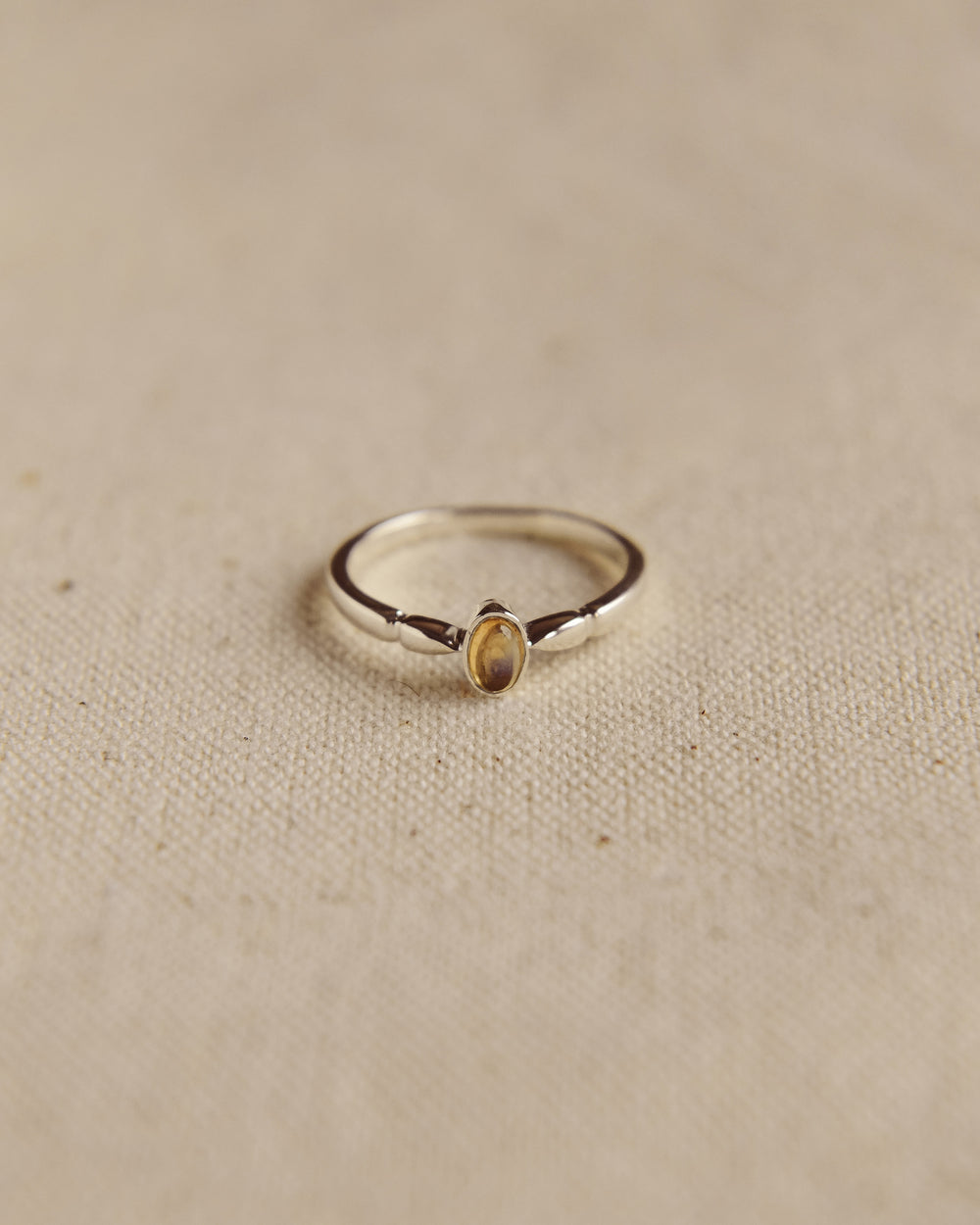 Joanie Sterling Silver Birthstone Ring - November