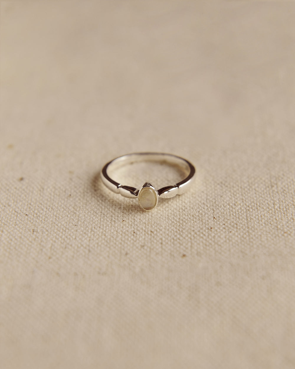 Joanie Sterling Silver Birthstone Ring - October