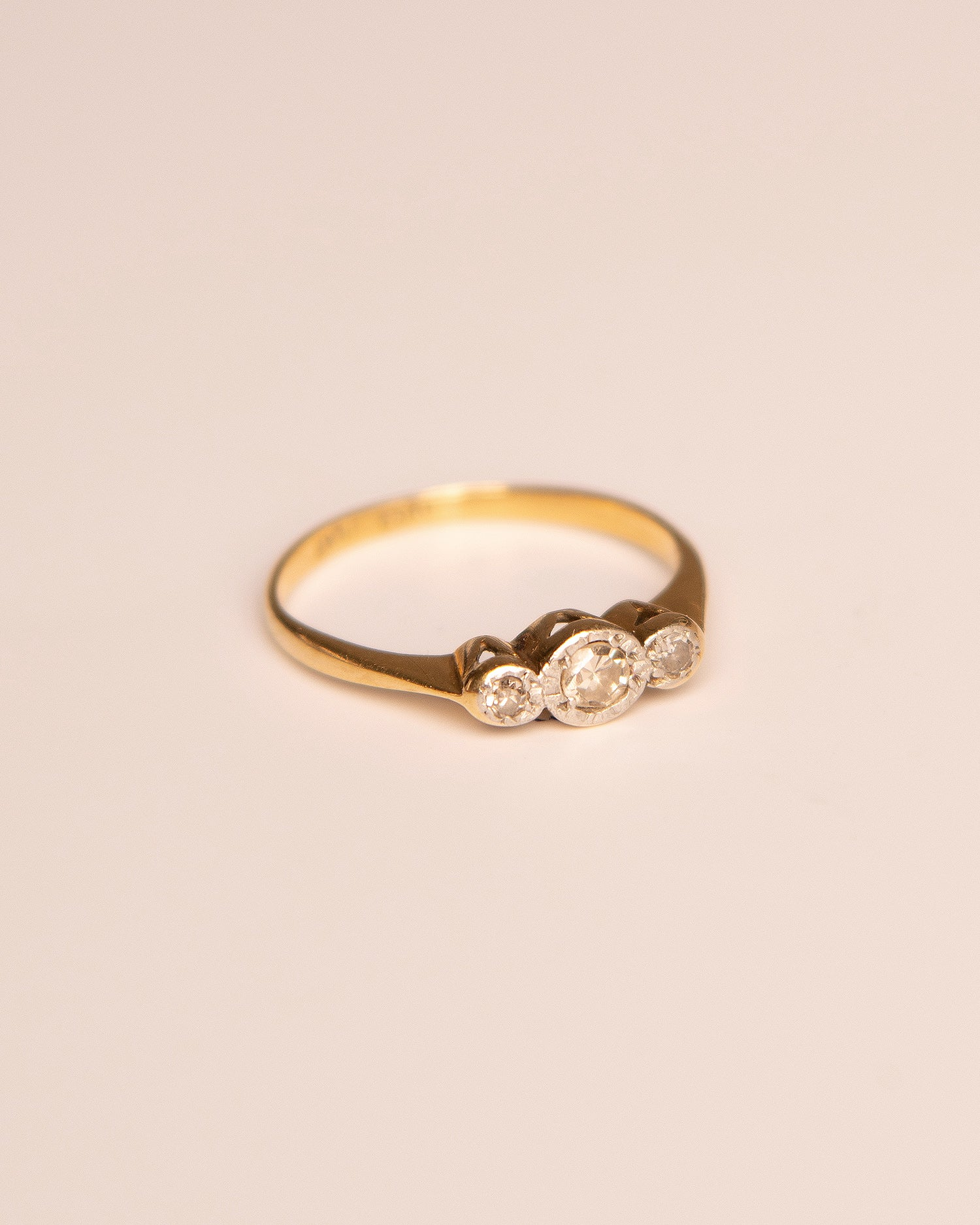 Image of Joy 18ct Gold Trilogy Diamond Ring