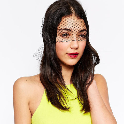 KENDALL Wine Veil Bow Headband