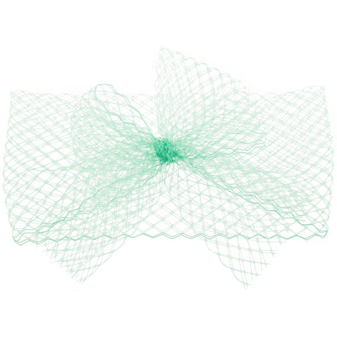 KENDALL Mint Veil Bow Headband