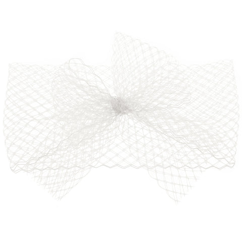KENDALL White Veil Bow Headband
