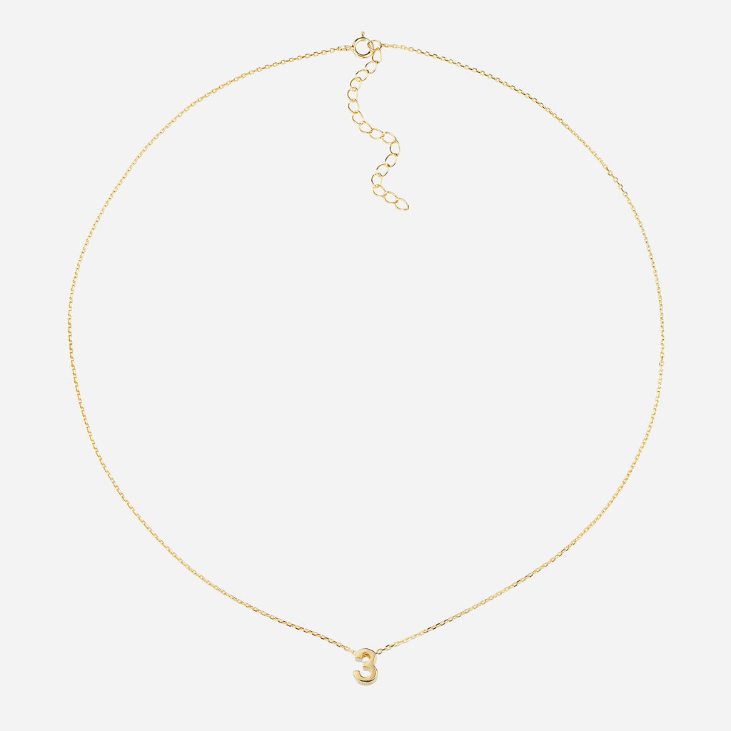 Image of Life Path Number 3 Necklace