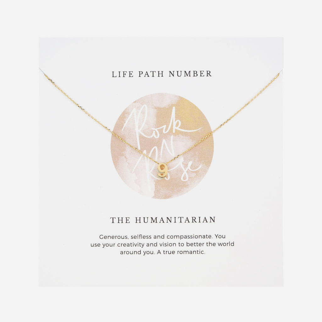 Life Path Number 9 Necklace
