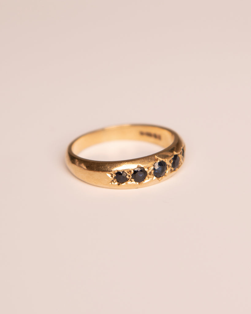 Lucia 9ct Gold Sapphire Gypsy Ring