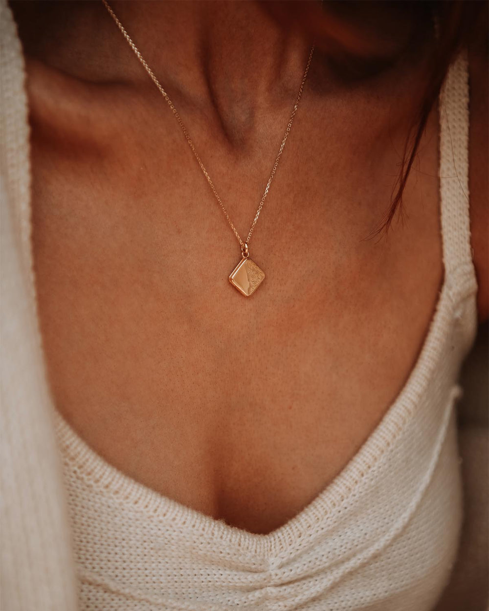 Margaret Gold Vermeil Locket Necklace