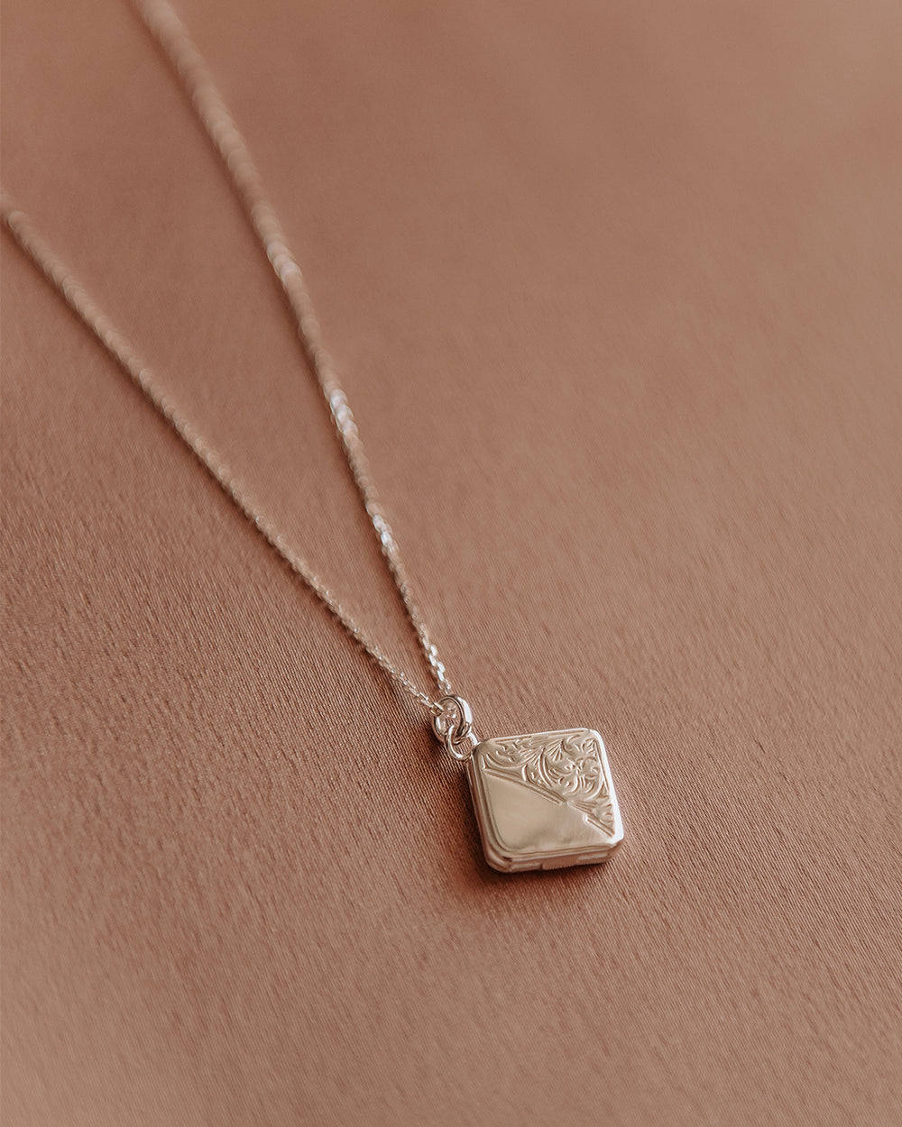 Margaret Sterling Silver Locket Necklace