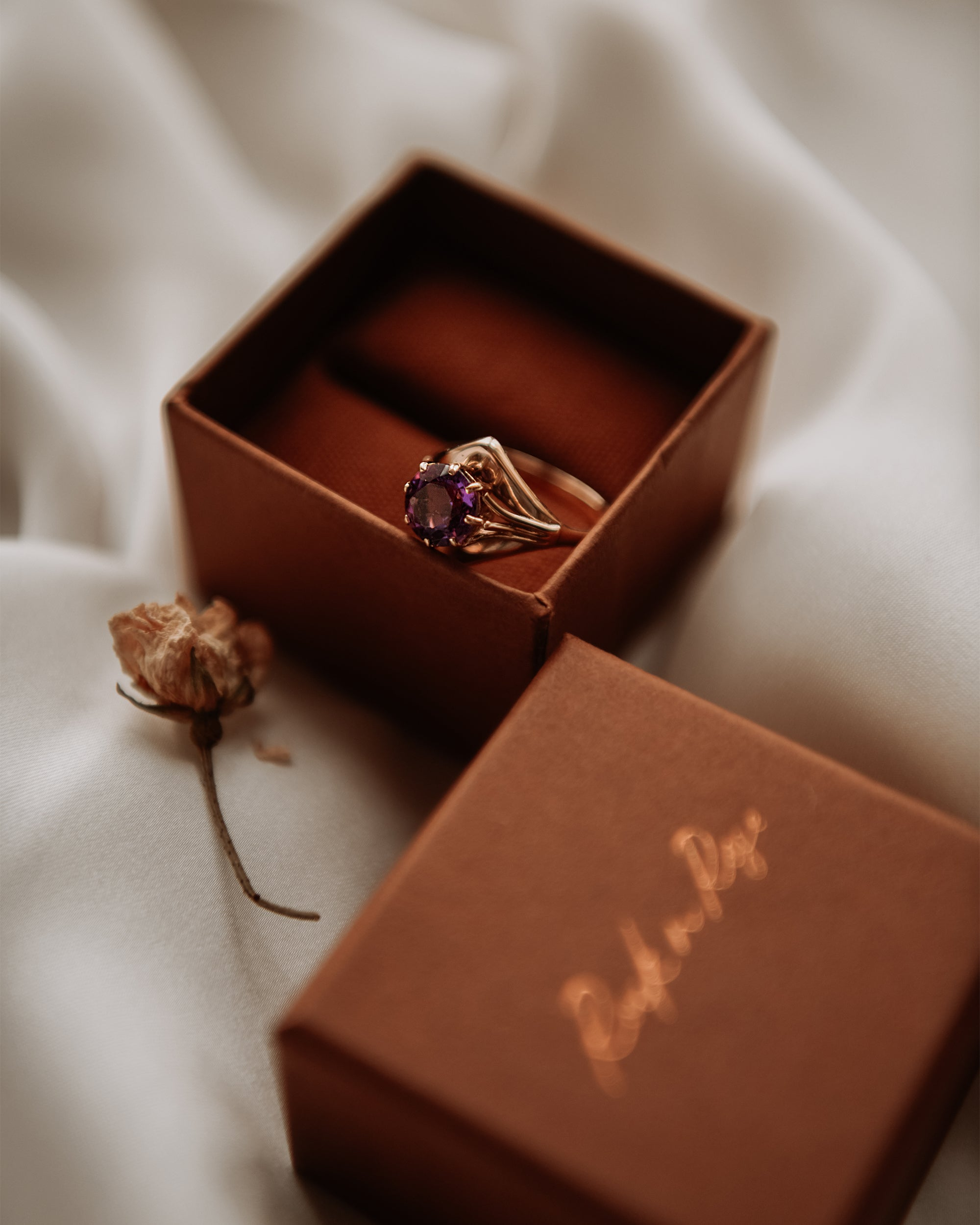 Image of Meredith 9ct Gold Vintage Amethyst Ring