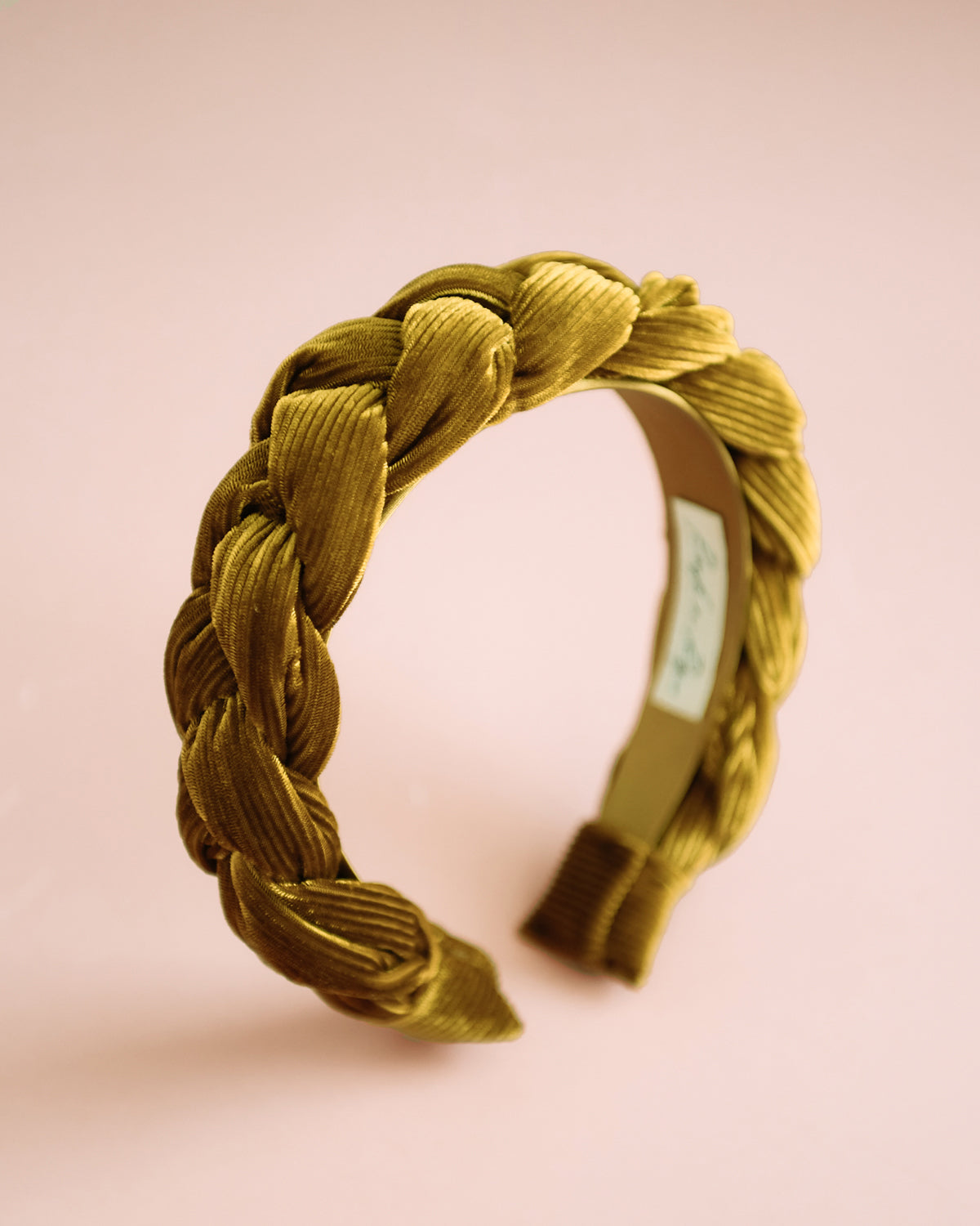 Image of Millicent Honey Velvet Plaited Headband