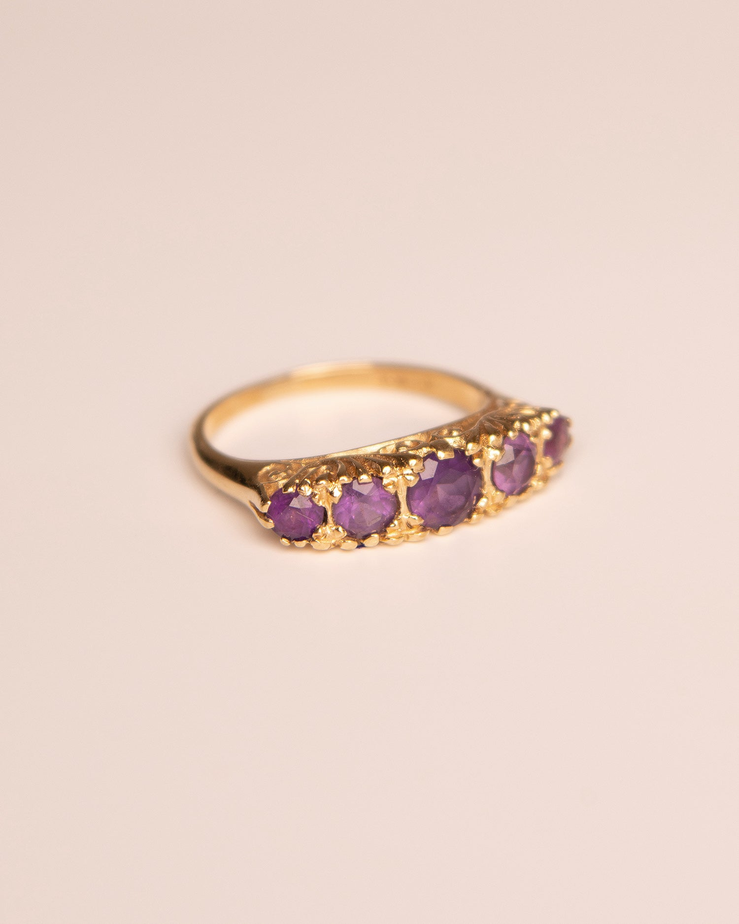 Image of Norah 9ct Gold Amethyst Ring