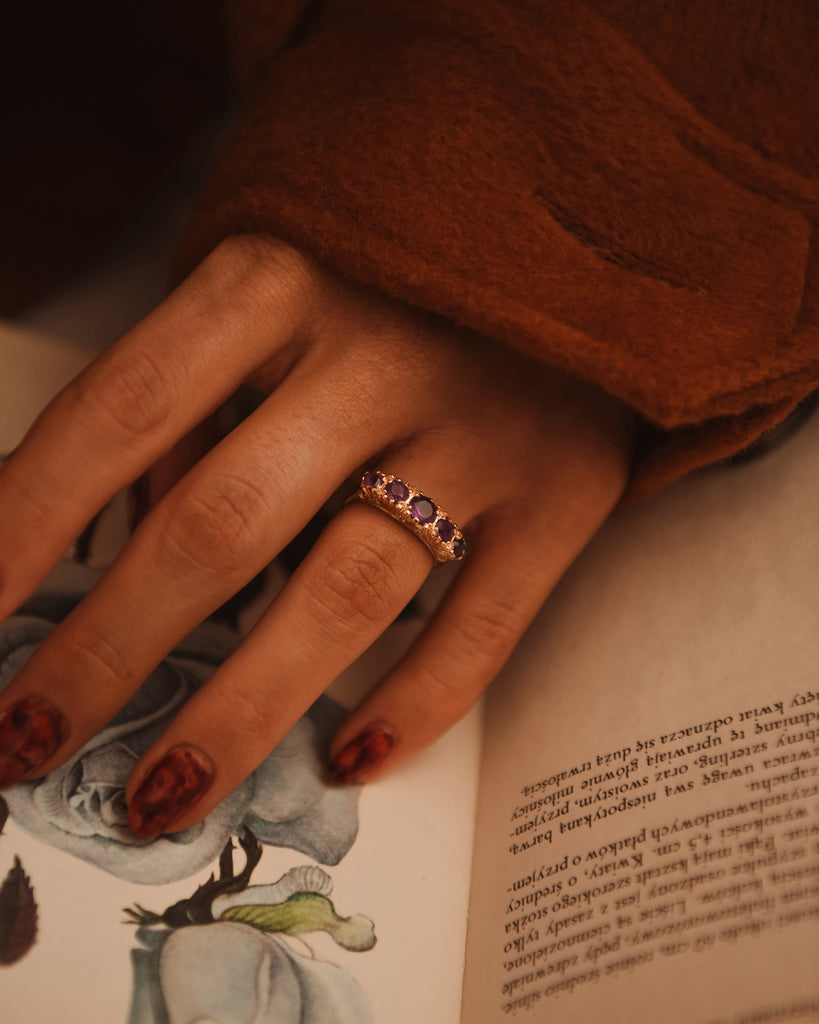 Norah 9ct Gold Amethyst Ring
