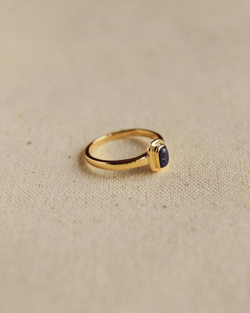 Frances Gold Vermeil Birthstone Ring - September