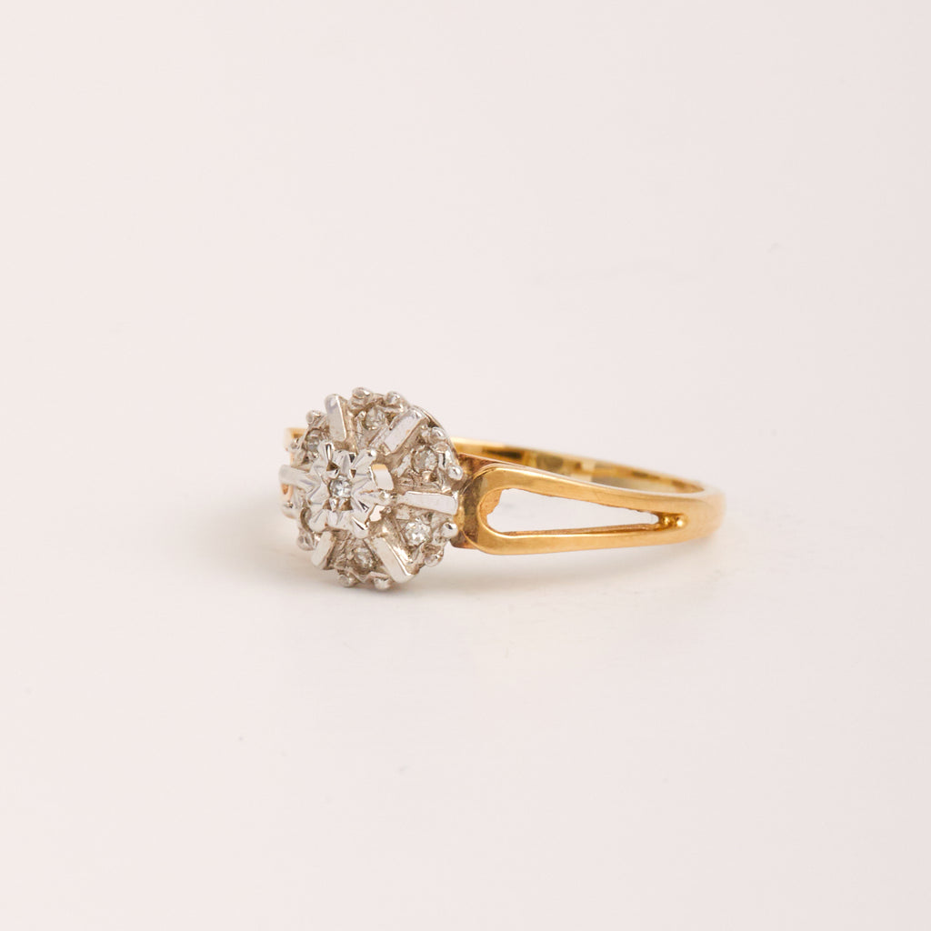 Isla Exclusive Vintage 9ct Gold Diamond Ring