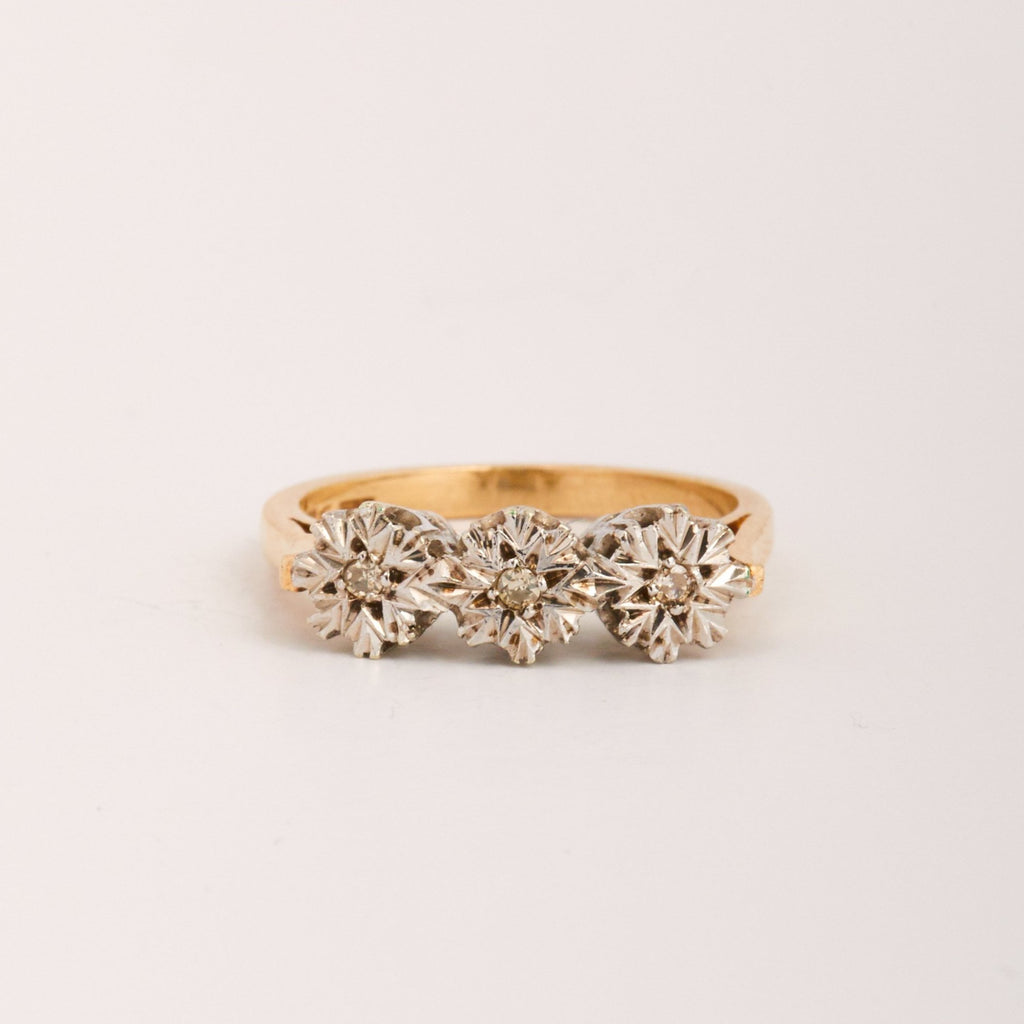 Simone Exclusive Vintage 9ct Gold Diamond Ring