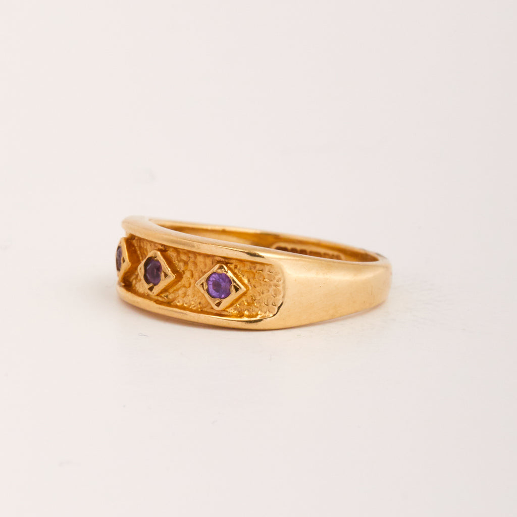 Ebba Exclusive Vintage 9ct Gold Amethyst Ring