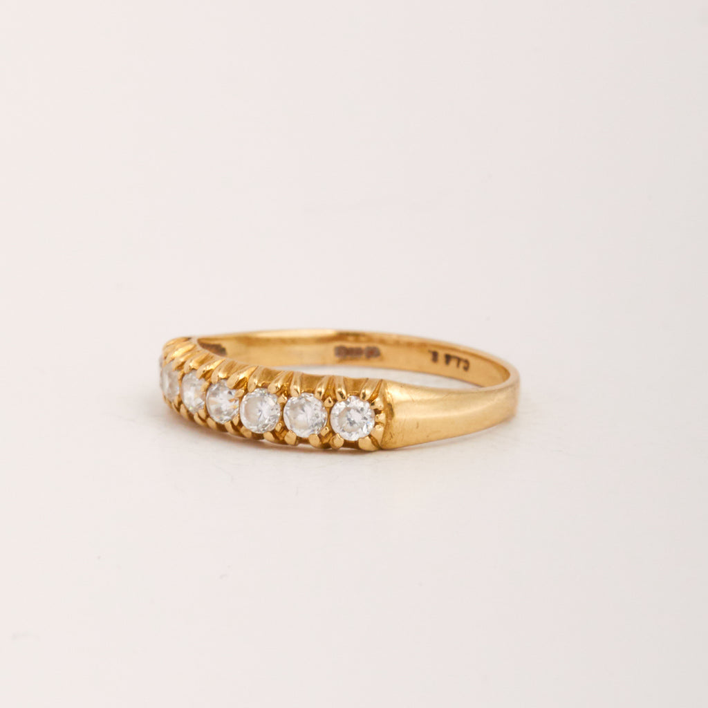 Marie Exclusive Vintage 9ct Gold CZ Ring