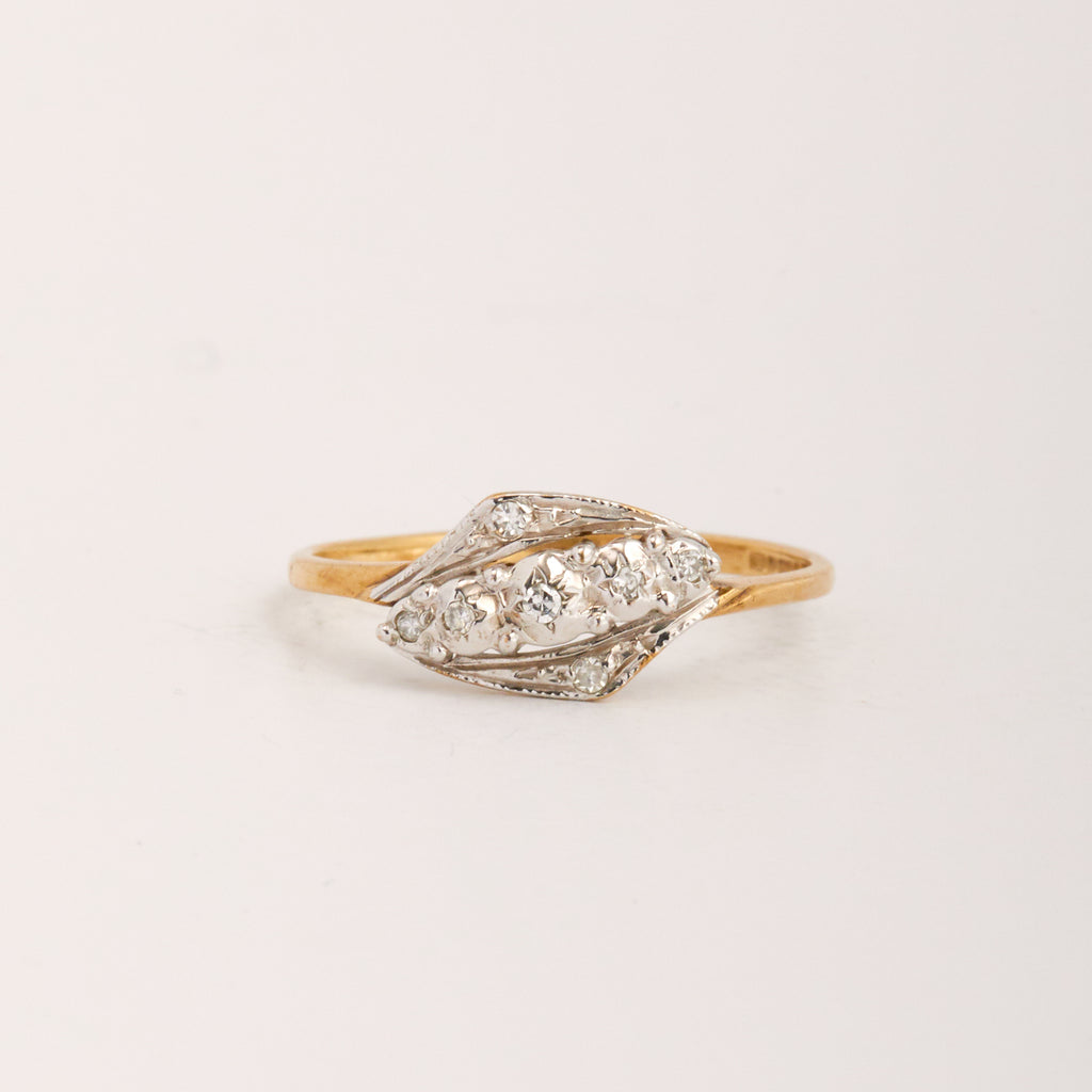 Delaney Exclusive Vintage 9ct Gold Diamond Ring