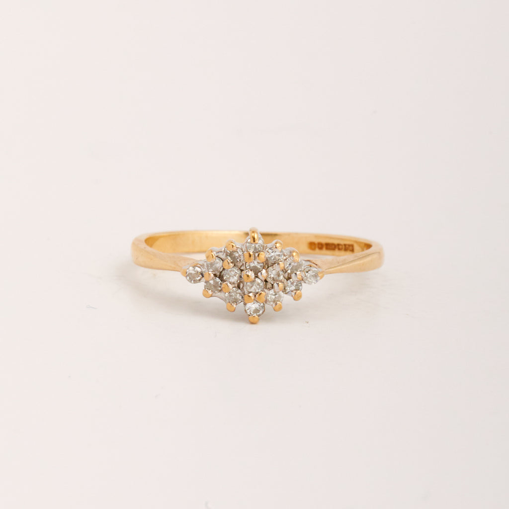 Willa Exclusive Vintage 9ct Gold Diamond Ring