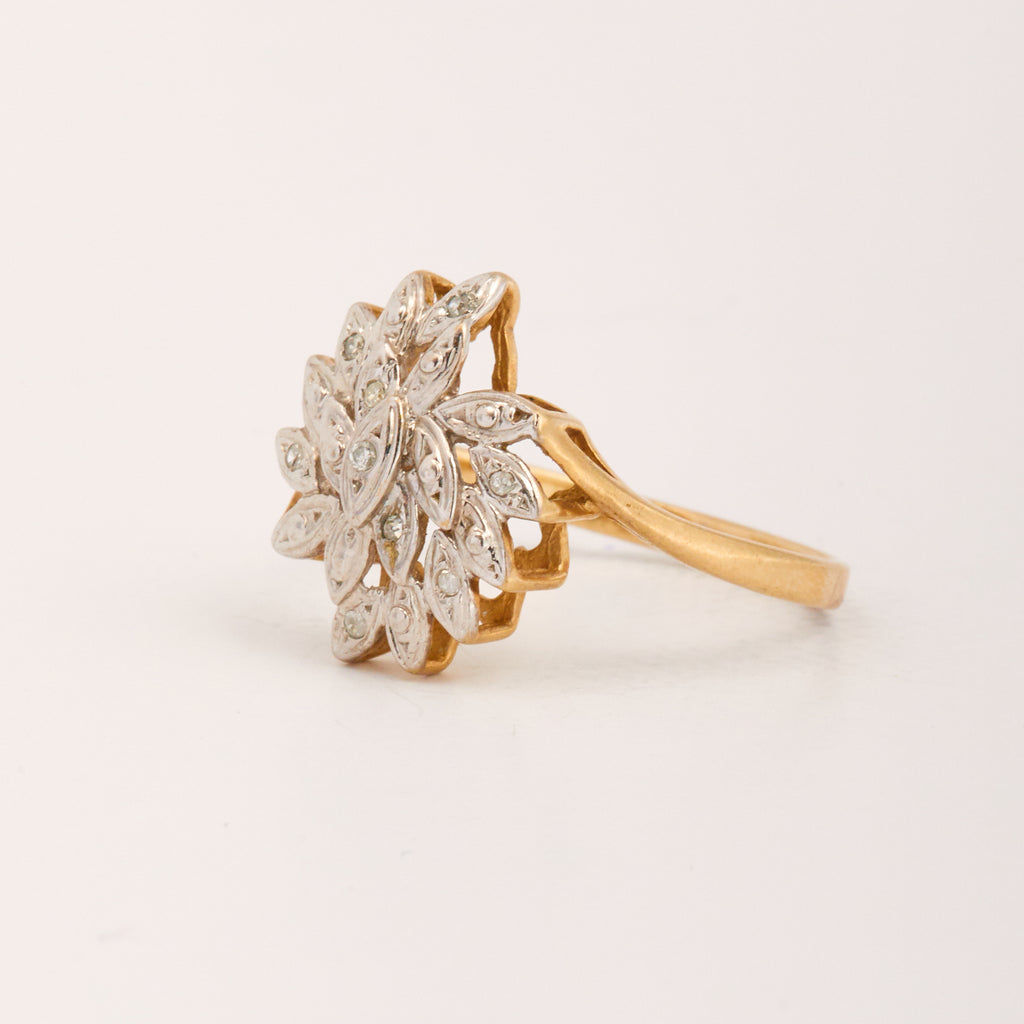 Elizabella Exclusive Vintage 9ct Gold Diamond Ring
