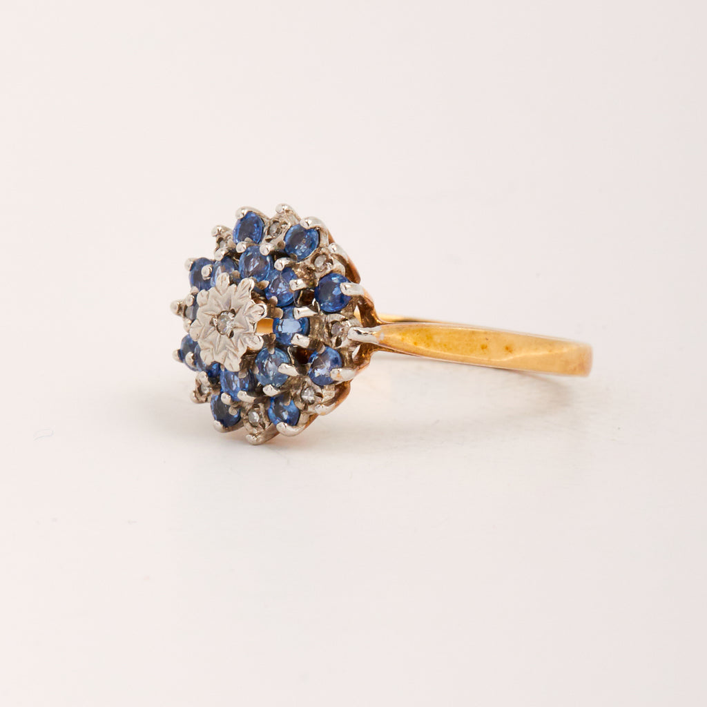 Romilly Exclusive Vintage 9ct Gold Sapphire & Diamond Ring