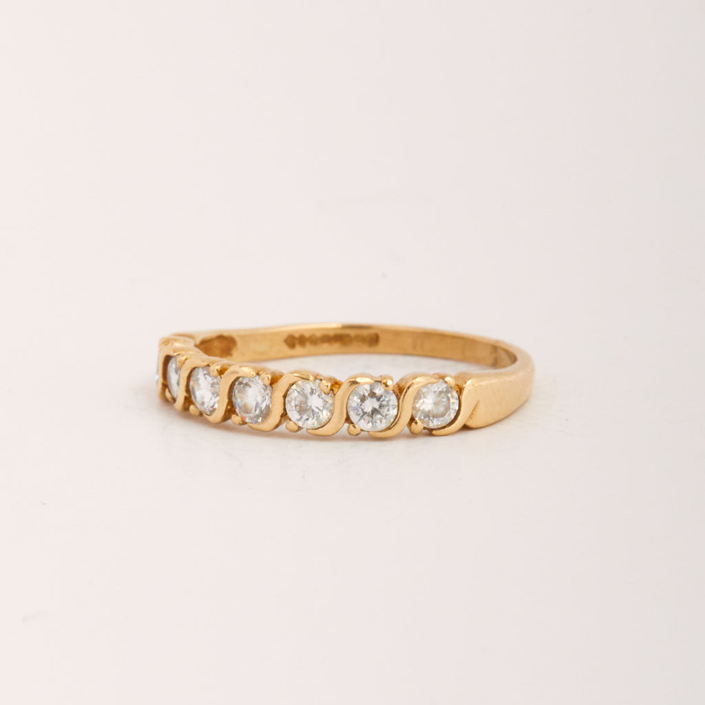 Wisteria Exclusive Vintage 9ct Gold CZ Ring