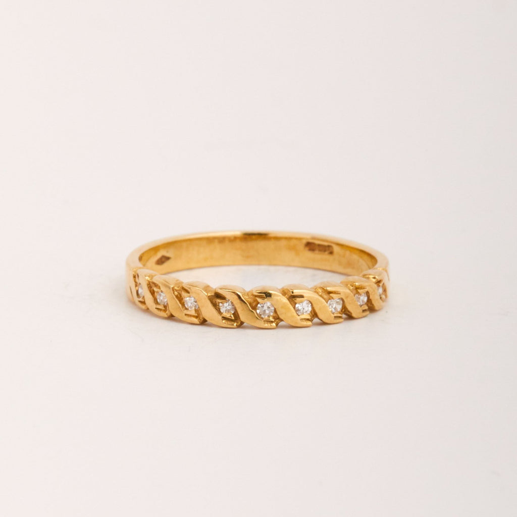 Dilys Exclusive Vintage 9ct Gold Diamond Ring