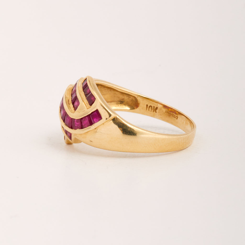 Vittoria Exclusive Vintage 9ct Gold Ruby Ring