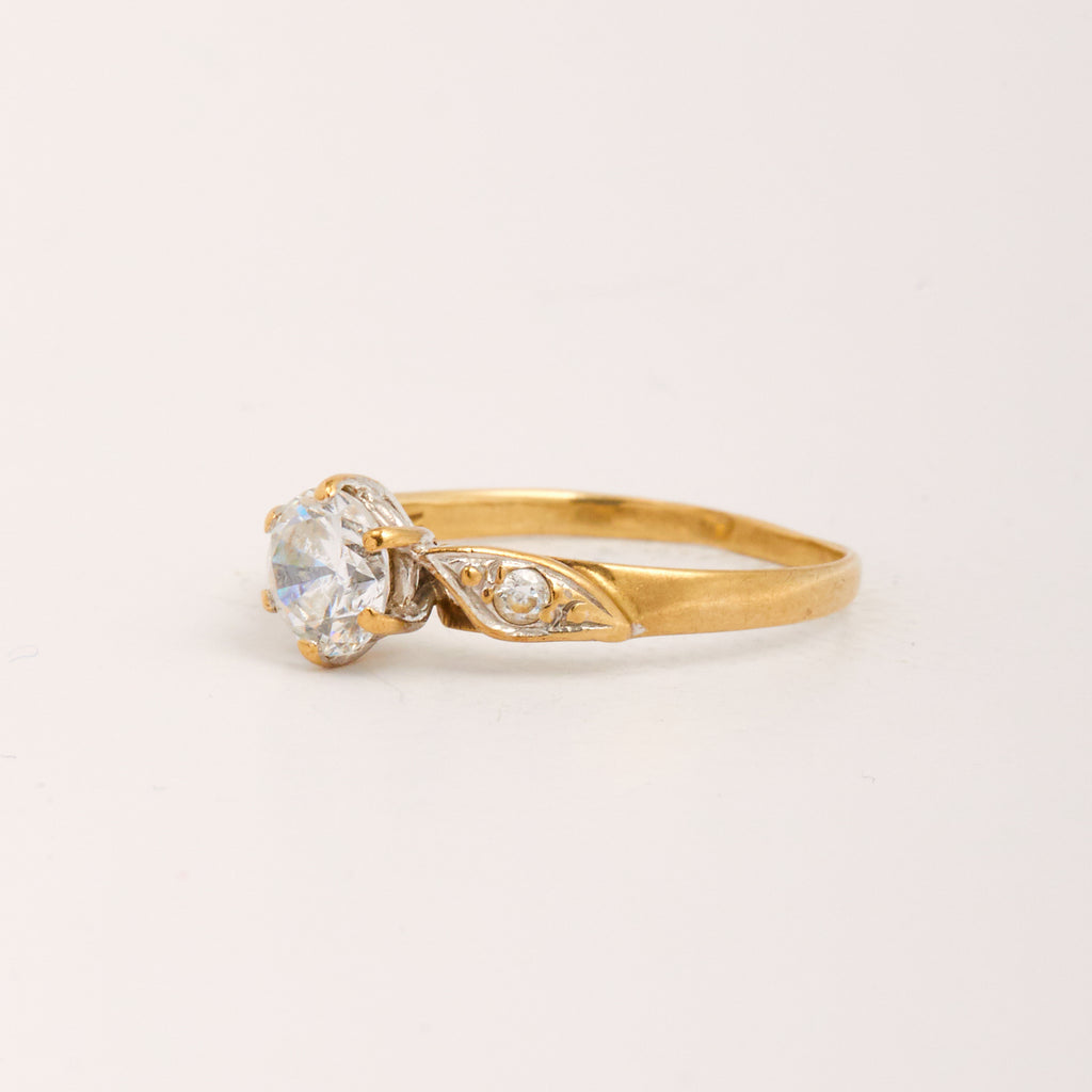 Darcey Exclusive Vintage 9ct Gold CZ Ring