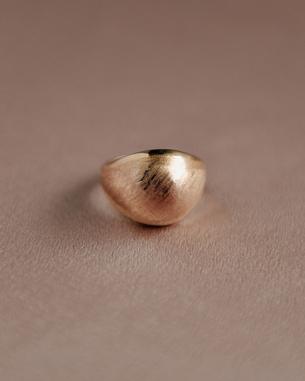 Safaa Sterling Silver Dome Ring - Gold Plated