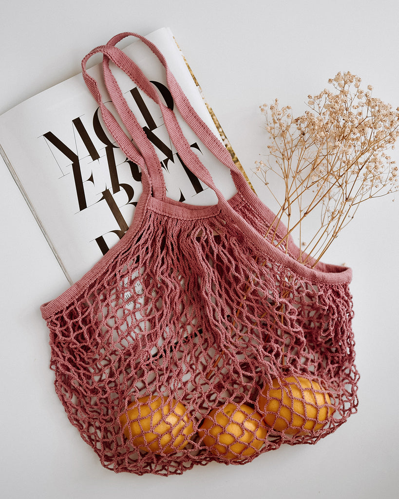 Savannah String Shopper Bag - Lilac