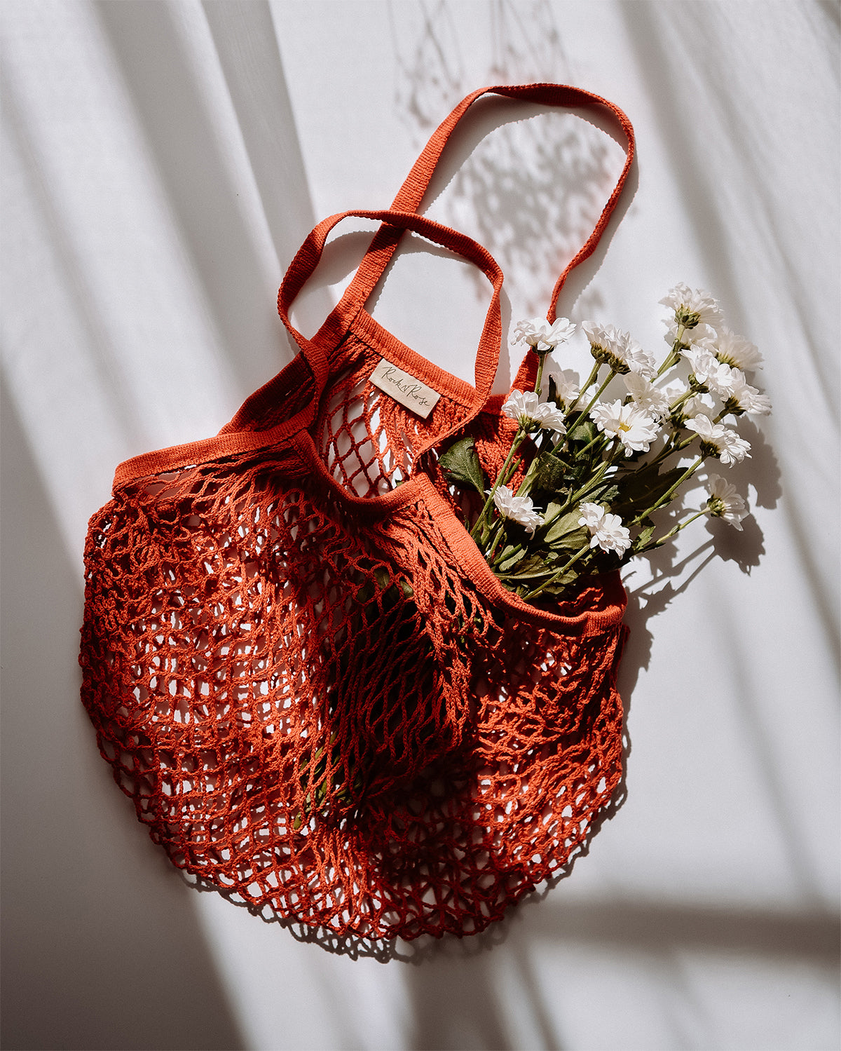 Savannah String Shopper Bag - Red