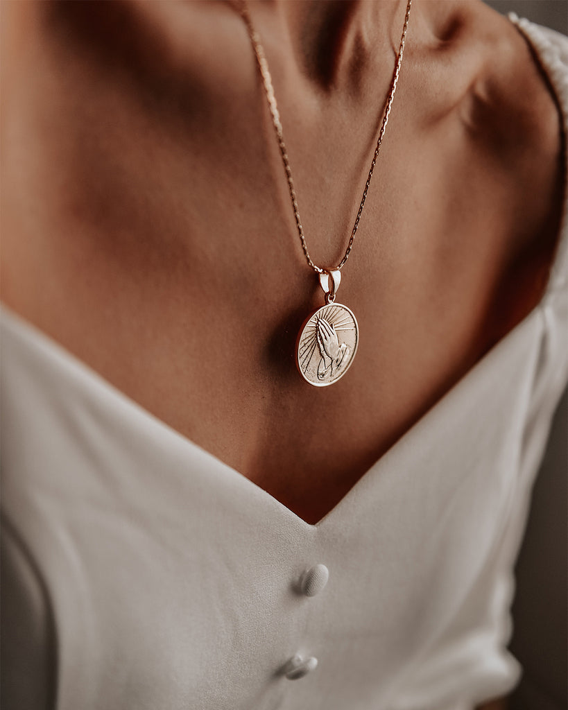 Selma Prayer Coin Necklace