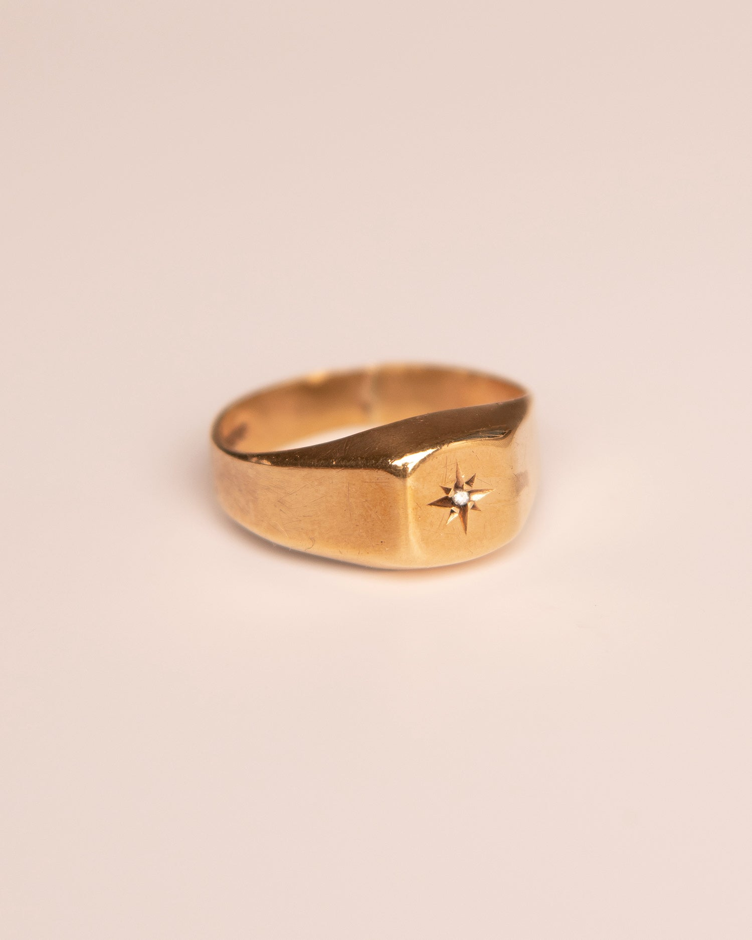 Sigrid 9ct Gold Diamond Signet Ring